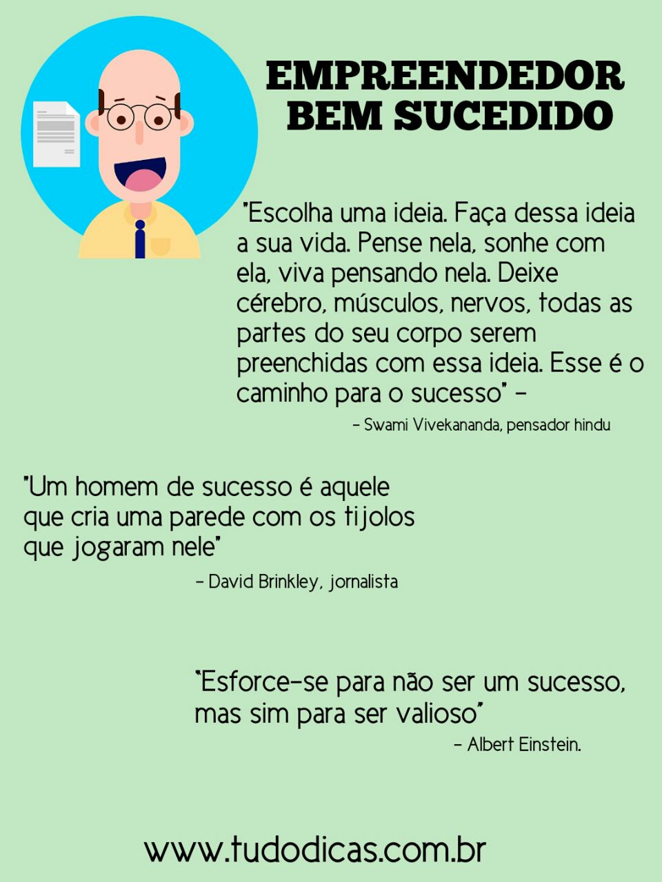 Frases para empreendedores de sucesso!