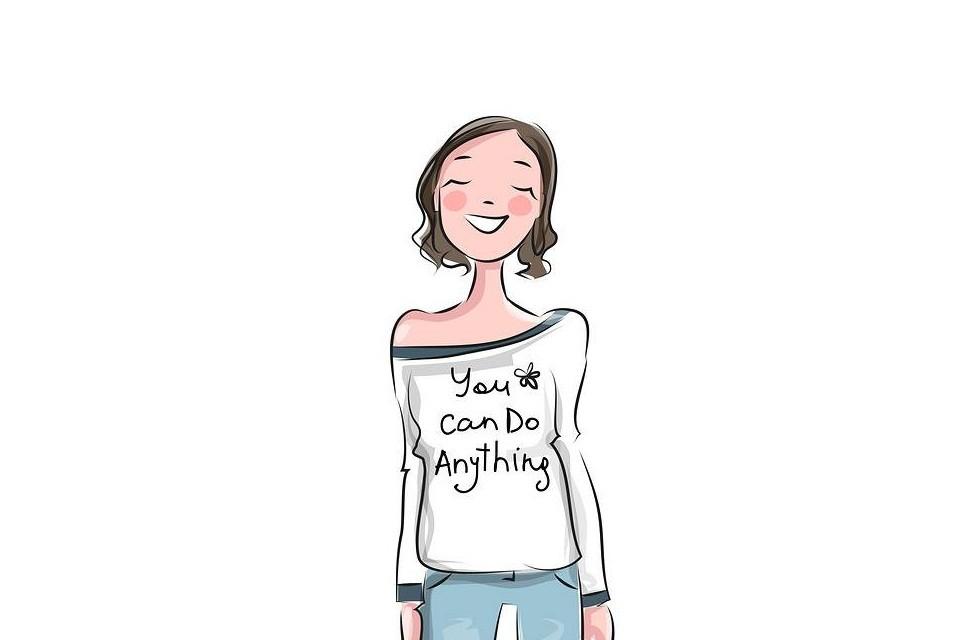 Ilustração de uma garota motivada!